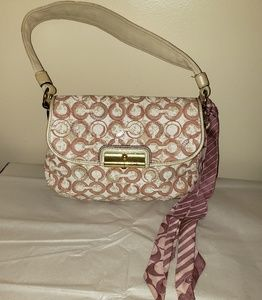 Authentic Coach Kristin OP Art Top Handle Pouch